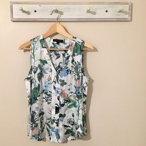 Banana Republic Floral Sleeveless Top